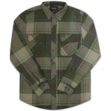 Brixton Bowery Long Sleeve Flannel Shirt Forest Green