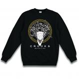 Crooks & Castles Medusa Bandana Crewneck Sweatshirt Black