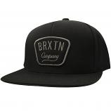 Brixton Gaston Snapback Cap Black