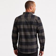 Brixton Bowery Flannel Long Sleeve Shirt Black Steel