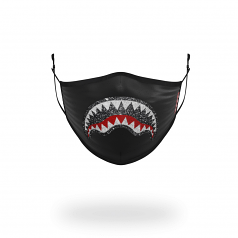 Sprayground Trinity Crystal Form Fitting Face Mask Black