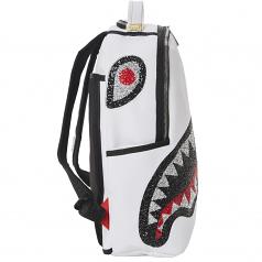 Sprayground Trinity Crystal DLX Backpack White